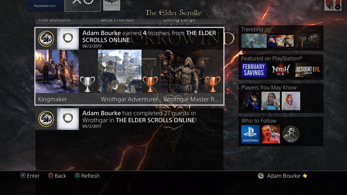 Pre-order dynamic theme for Morrowind on PS4? — Elder