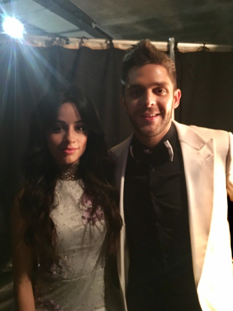 Getting ready to present together at @RecordingAcad's #GRAMMYS, @camilacabello97 & @ThomasRhett https://t.co/aRavqrz3ch