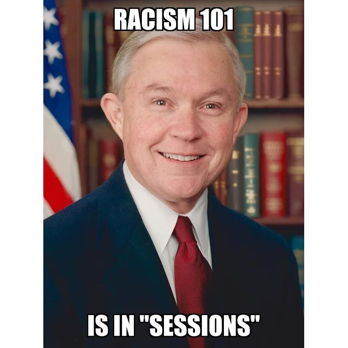 Racism 101 is in #Sessions <br>http://pic.twitter.com/Gq3ZJgJZ5b