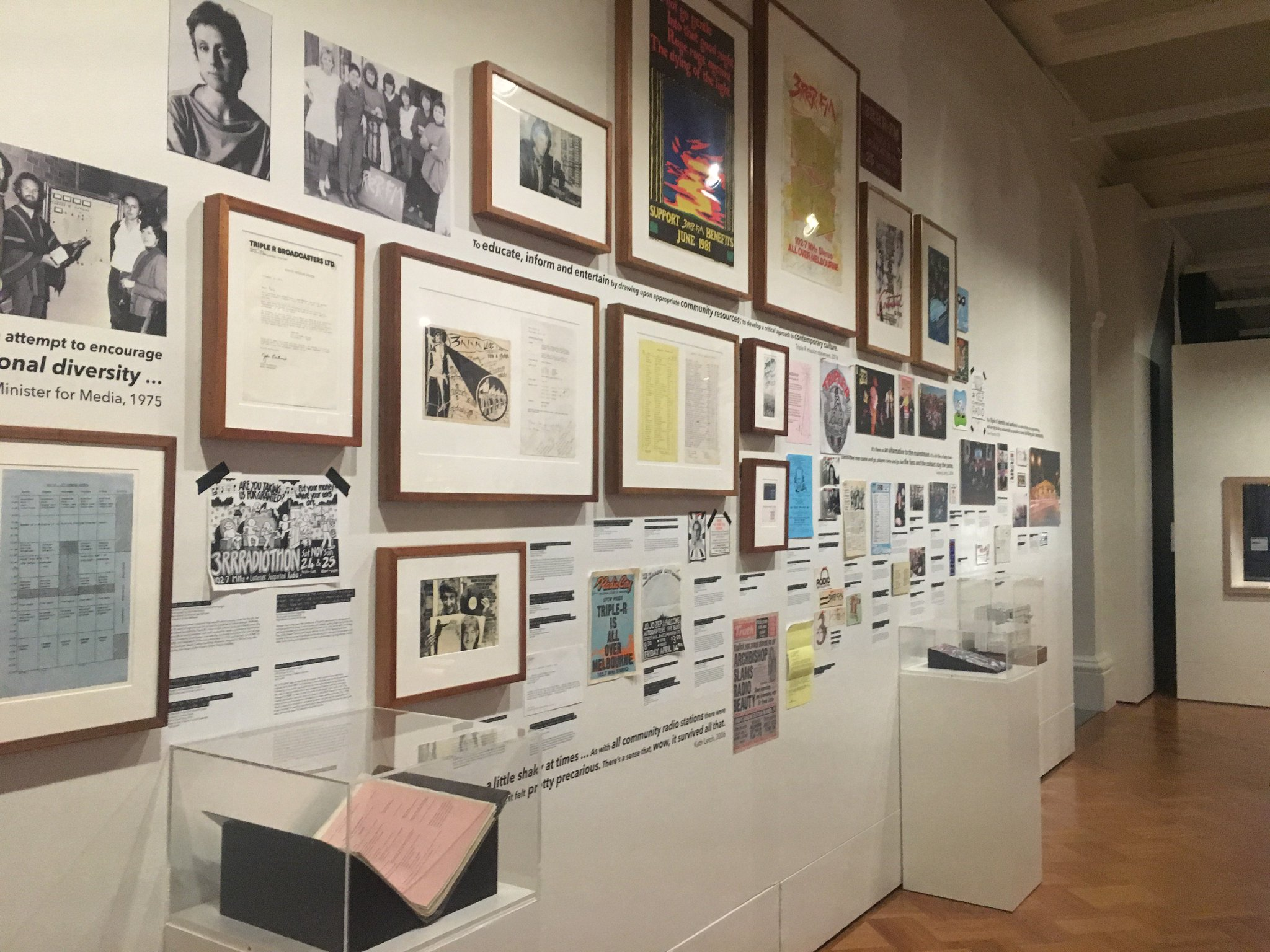 Want to take in @3RRRFM's history with a single pan of your head? This wall has you covered. #WorldRadioDay https://t.co/MQE1NNF0TK