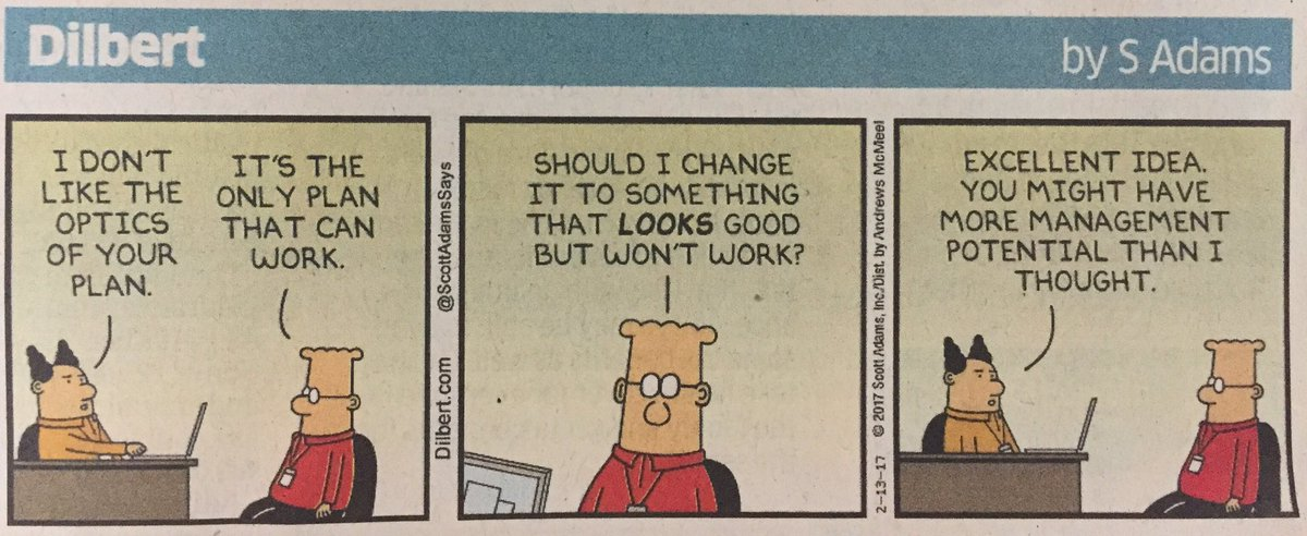 How is management potential judged? Dilbert's take!