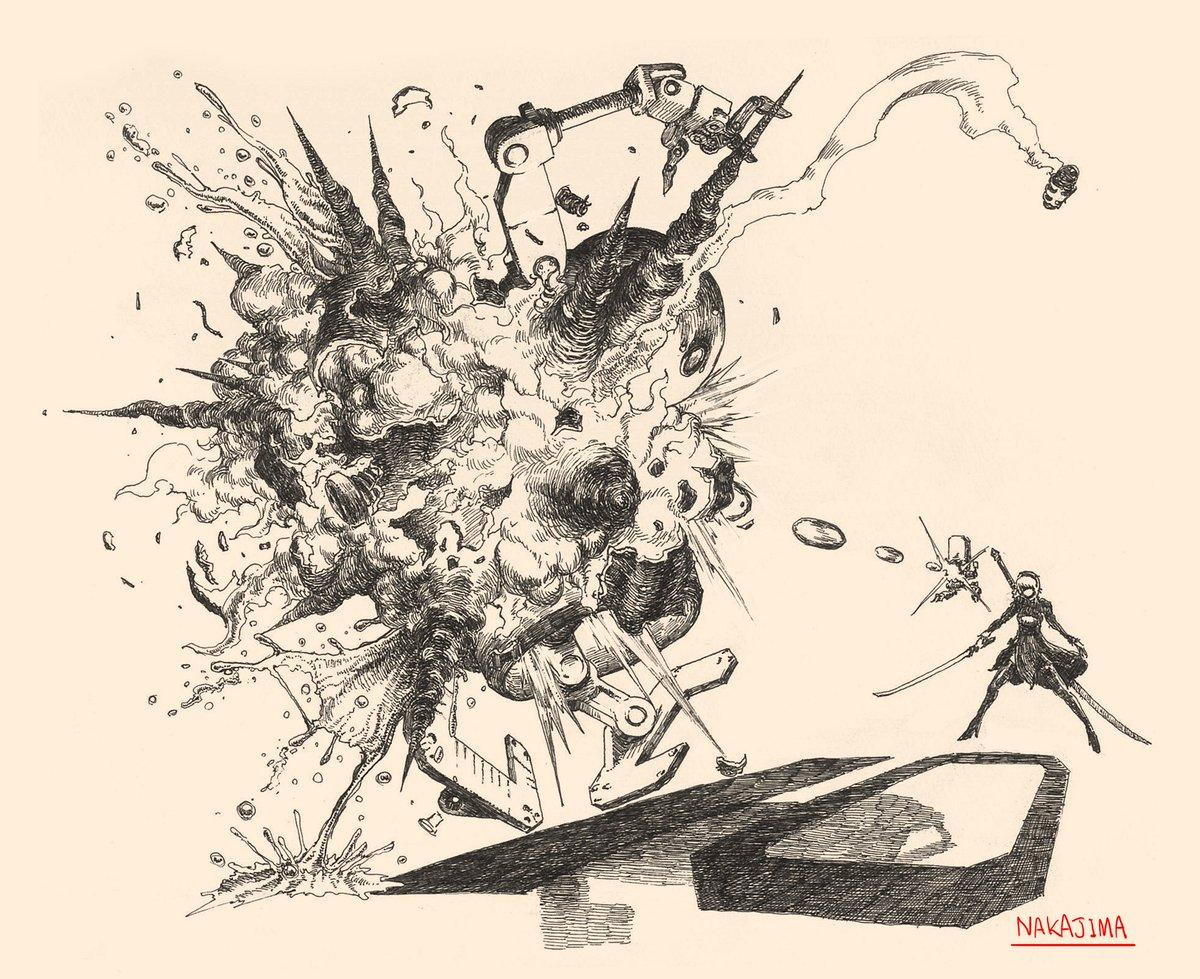 『NieR:Automata』発売まであと10日。本日のカウントダウンアートは、プラチナゲームズ・V…