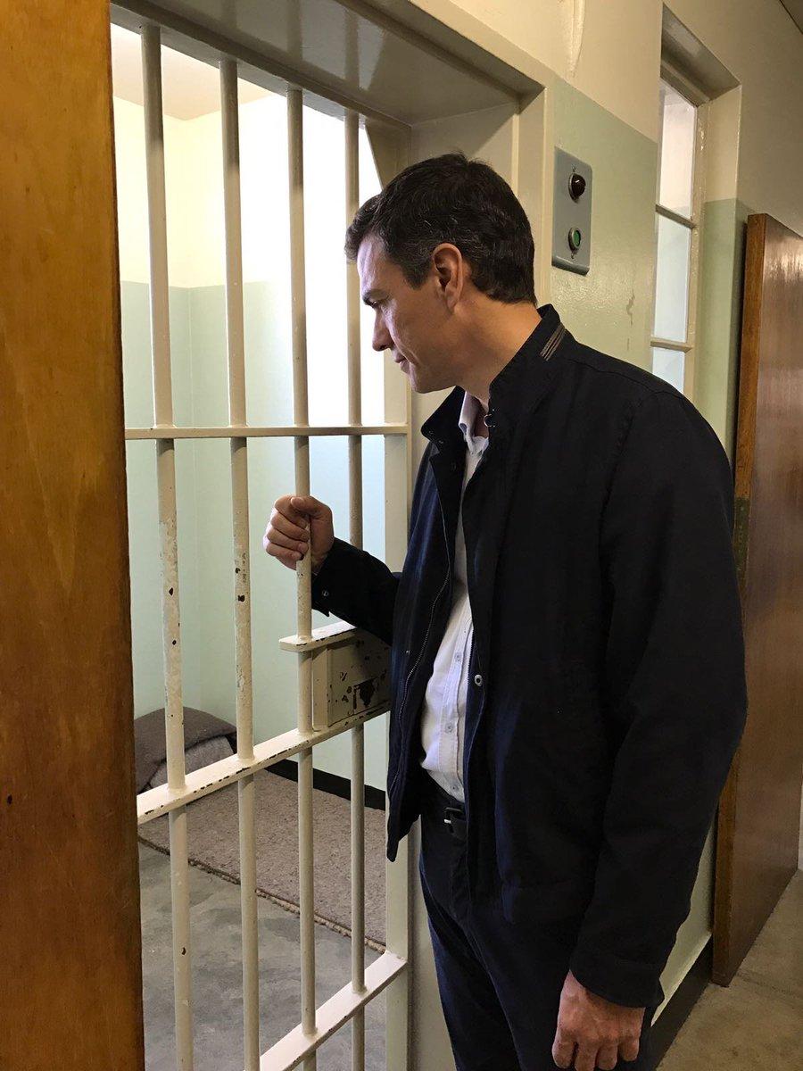 Resultado de imagen de Pedro sanchez en la carcel