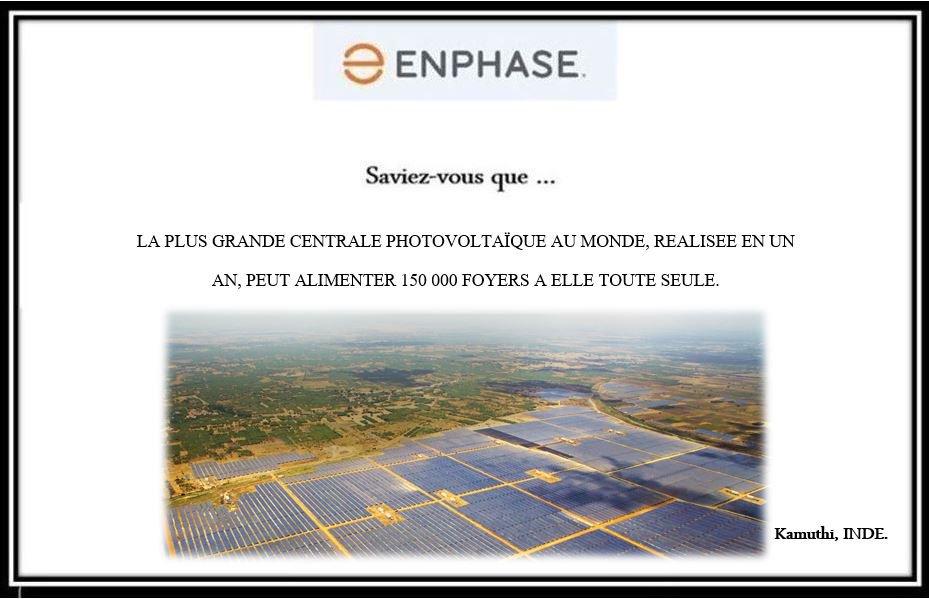 Saviez-vous que…la plus grande centrale photovoltaïque au monde, réalisée en un an, peut alimenter 150 000 foyers à elle toute seule #solar <br>http://pic.twitter.com/bnS7UZ2ATN