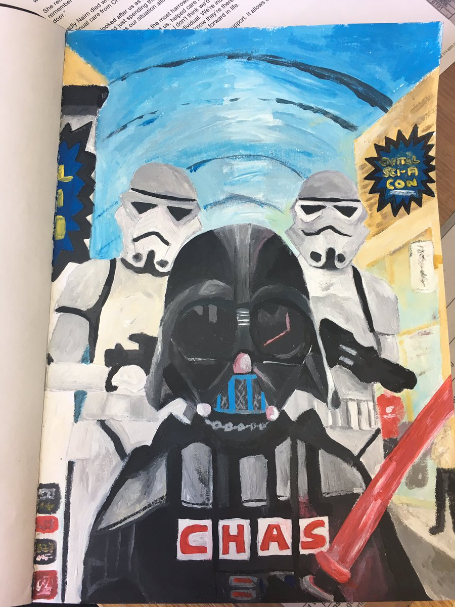 Getting ready for the Capital Sci Fi Con @SupportCHAS @Capitalscificon #fanart #starwars #scifi #chas <br>http://pic.twitter.com/Wnv05UJ1yn