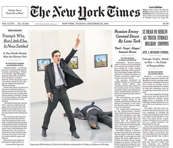 Turkish photographer wins World Press Photo award with AP image of Turkish assassin