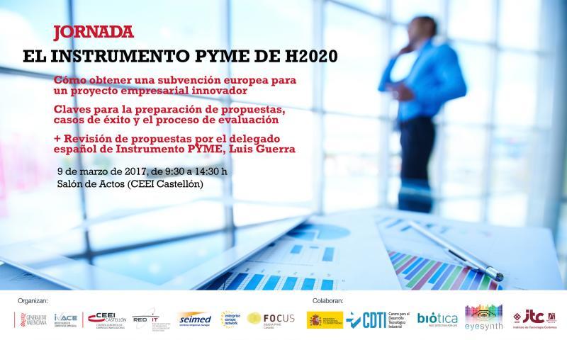 El 9/03 acogemos una jornada sobre el Instrumento Pyme de @EU_H2020 https://t.co/NihP0FJWed  con @LGuerra_CDTI @GVAivace cc @luibasa https://t.co/6AtRDaquZc