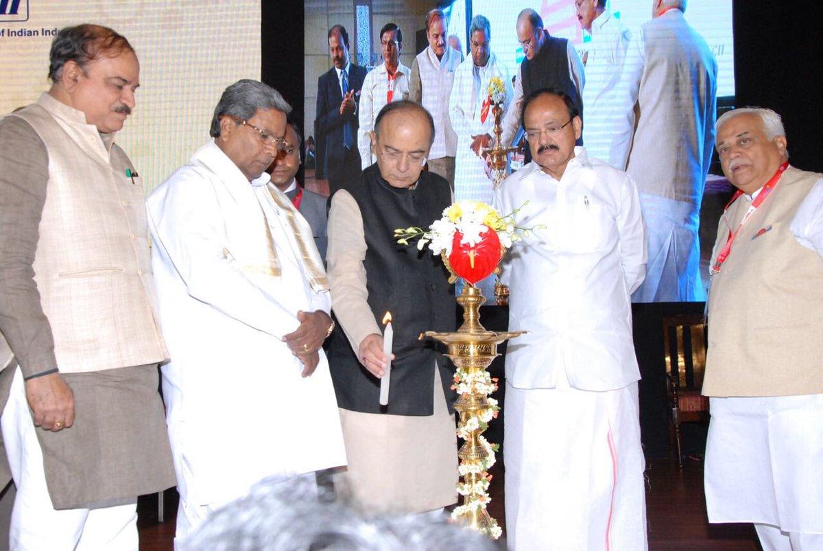At the Make in India Karnataka Conference, Bengaluru, February 13, 201...