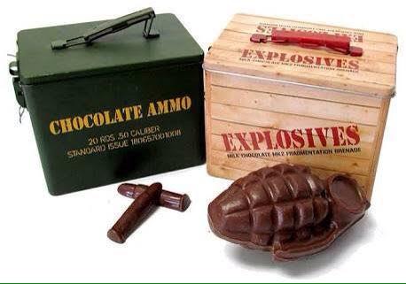 世の中には弾丸チョコレートや手榴弾チョコレートっていう、とても殺傷能力が高いチョコがあるので、是非と…
