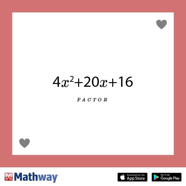 Mathway on Twitter: