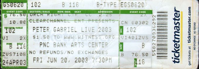 Happy birthday Check out the setlist from his show here in 2003: