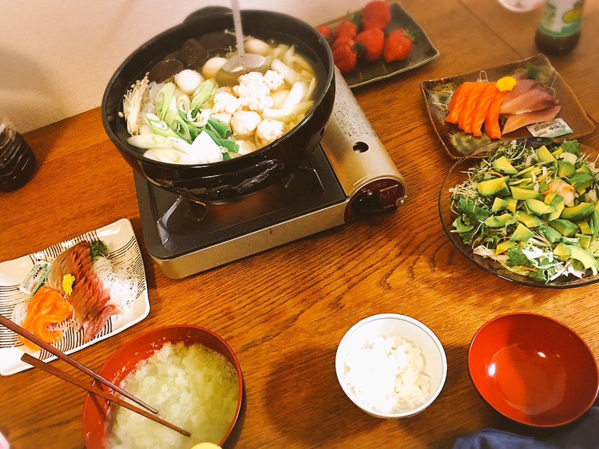 母親と妹が来てご飯作ってくれた うまうま🐎🏇