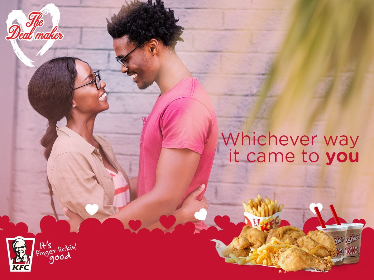 Kfc Kenya On Twitter As We Celebrate Love This Valentines Wed Voucher To Hear Your Story And Give You A While At It