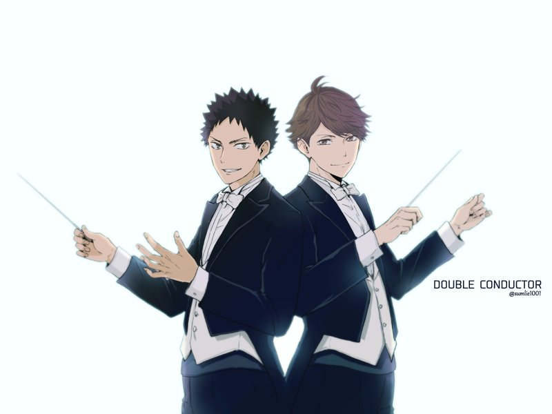 指揮者の指揮者と指揮者(岩ちゃんと及川)