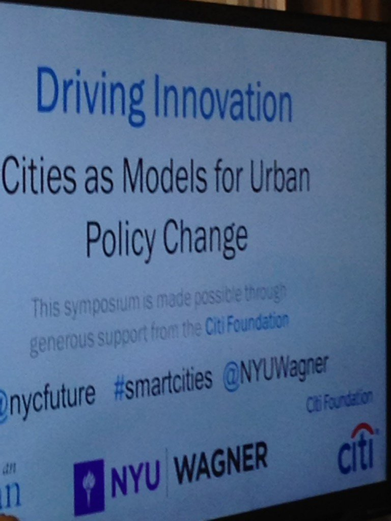 .@nycfuture innovation symposium @NYUWagner #smartcities https://t.co/QAJN1Ork2w