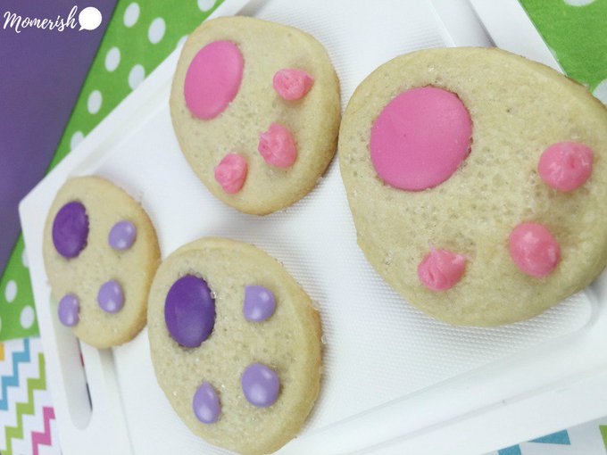 Easter Bunny Paws Cookies