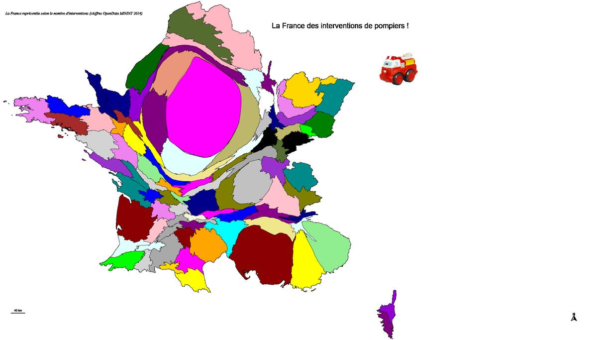 Une dernière, pour la route : La France des interventions de #pompiers avec #Magrit #SDIS #SIG #Cartographie #Anamorphose #OpenData<br>http://pic.twitter.com/AbLkRgDZWS