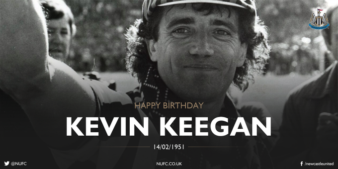 Happy birthday to Newcastle United legend, Kevin Keegan - 66 today!