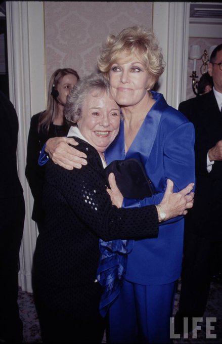 Happy birthday Kim Novak. No date or credits with this photo, but my guess is that\s Patricia Hitchcock with KN