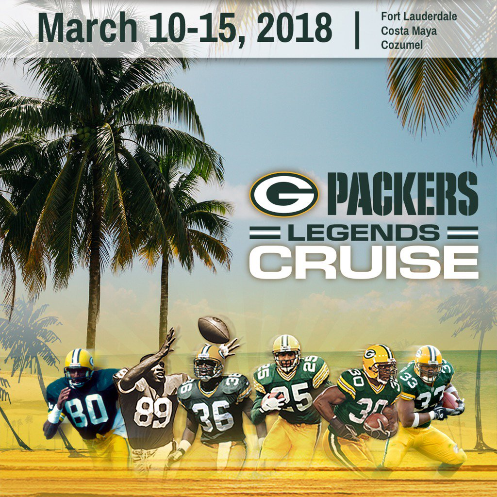 Join us for warm weather, sandy beaches and great times on the @PackersCruise! Cabins booking fast! https://t.co/9VE3oiSKtS
