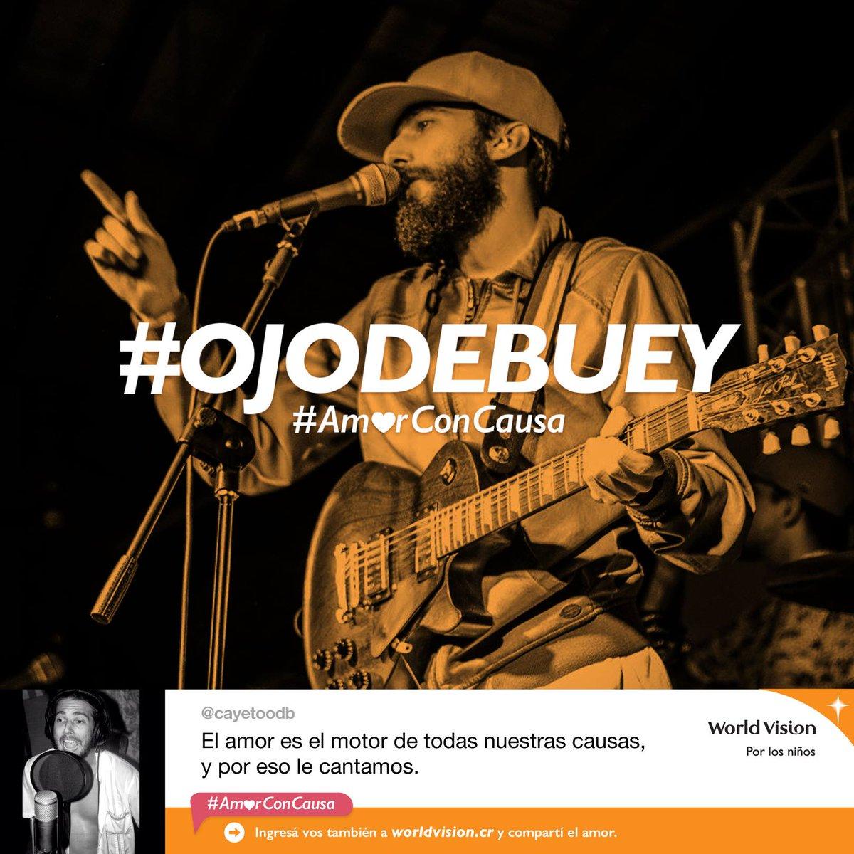 """World Vision CR on Twitter """"Carlos Agüero del grupo OjoDeBuey se uni³ a nuestra campa±a con una frase para escribir juntos la canci³n de amor más grande"""