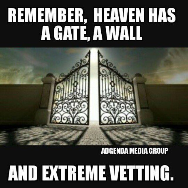 @michellewally64  Remember Heaven has a Gate and a Wall! MAGA https://t.co/opiwr2OzG0