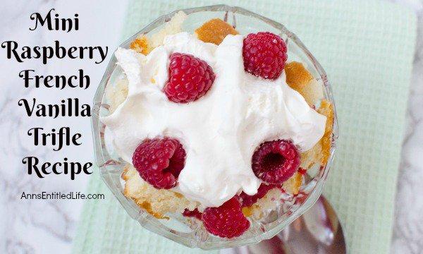 Mini Raspberry French Vanilla Trifle Recipe