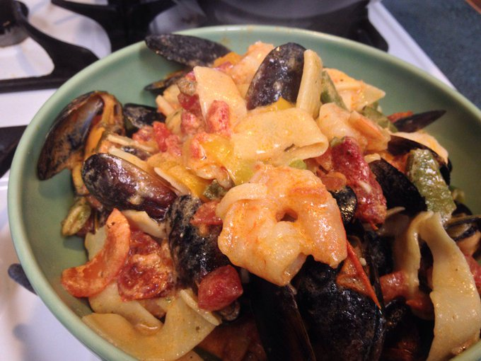#Seafood Pappardelle – #Recipes