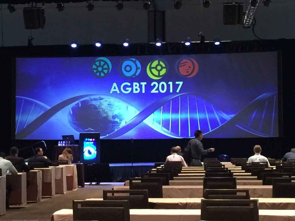First plenary session of #agbt17 about to start (Genomics I). https://t.co/GWcKLyYjFp