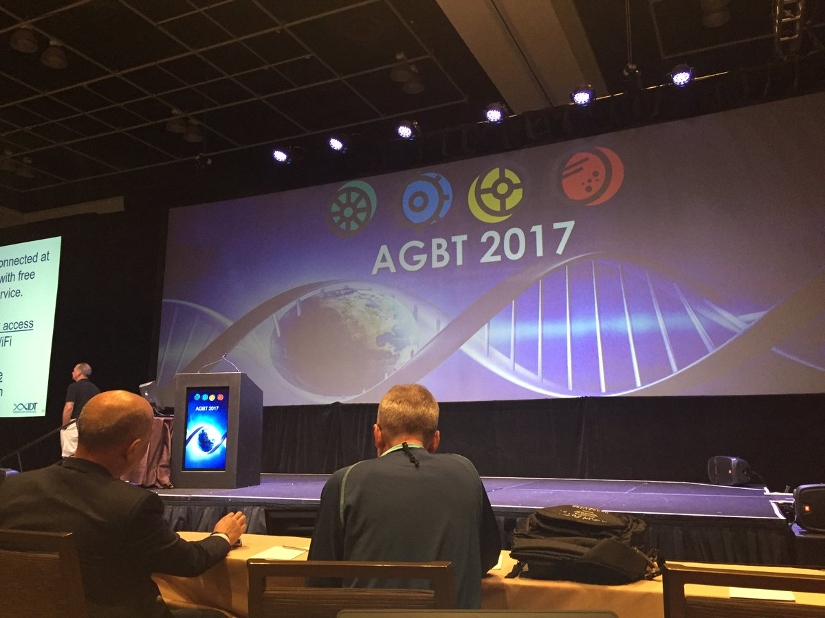 Hi #AGBT17 - first plenary to soon start. Great to see @DeciBio and @10xgenomics   and others from NCI, @jacksonlab https://t.co/mFmTGg1V35