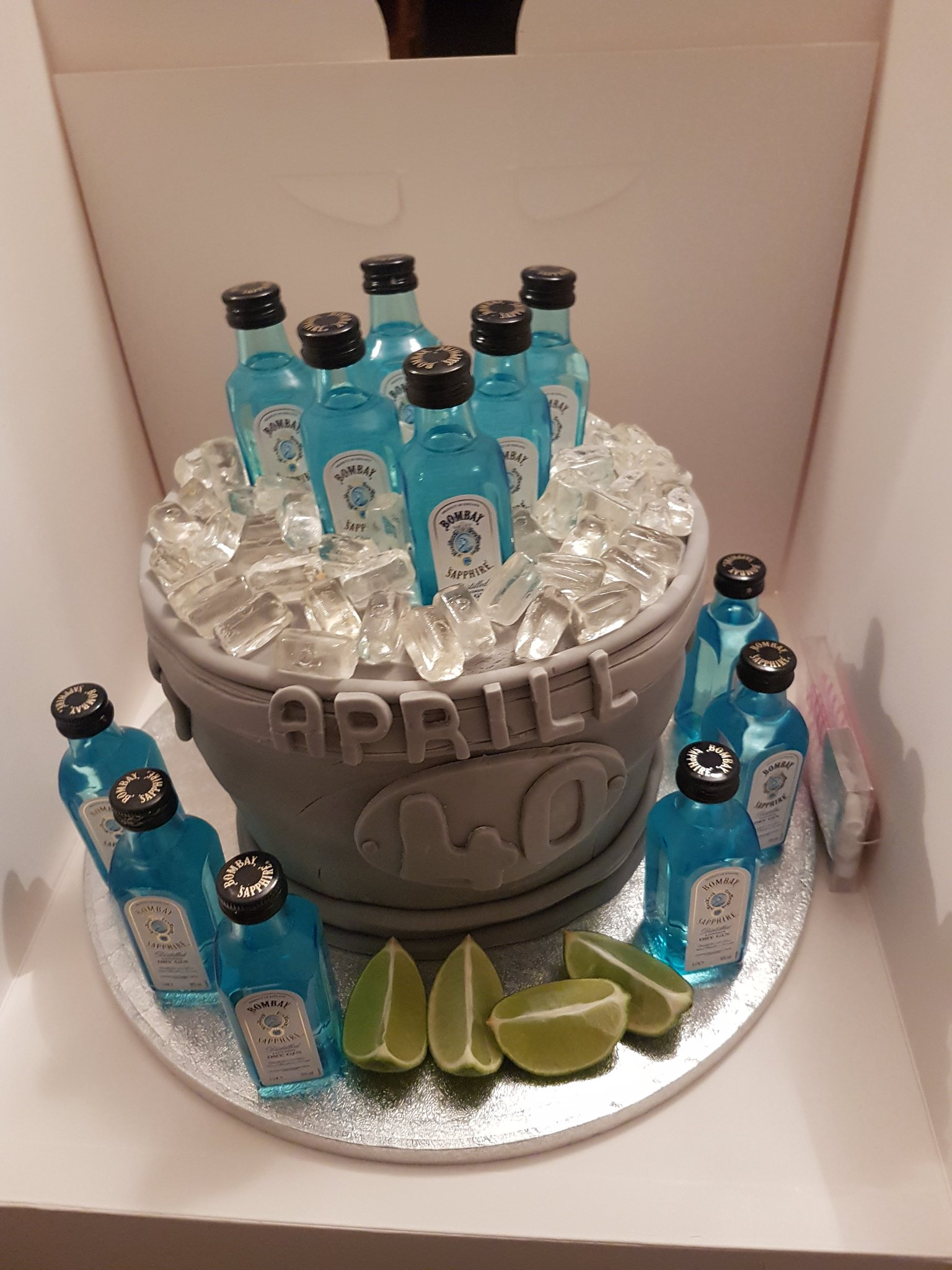 Cakes By Jewels On Twitter Quot 40th Birthday Gin N Tonic