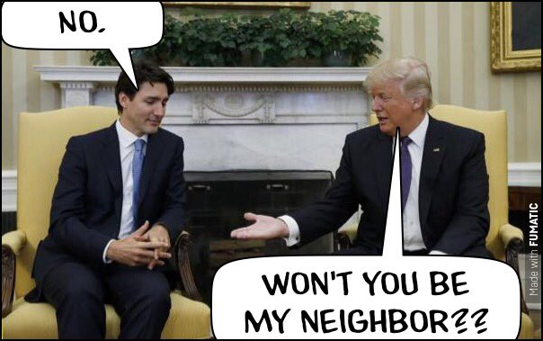 🇨🇦💁🏻‍♂️🖕🏻🤡 hehe @JustinTrudeau @realDonaldTrump #Trudeau #WelcometoCanada https://t.co/cvVpxfQIe9