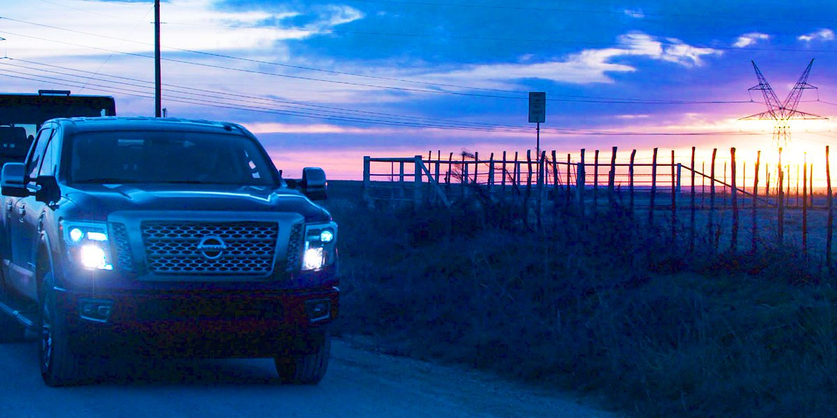 #FrontEndFriday TITAN sunset edition. #Nissan #TITAN - Photo: The Conf...