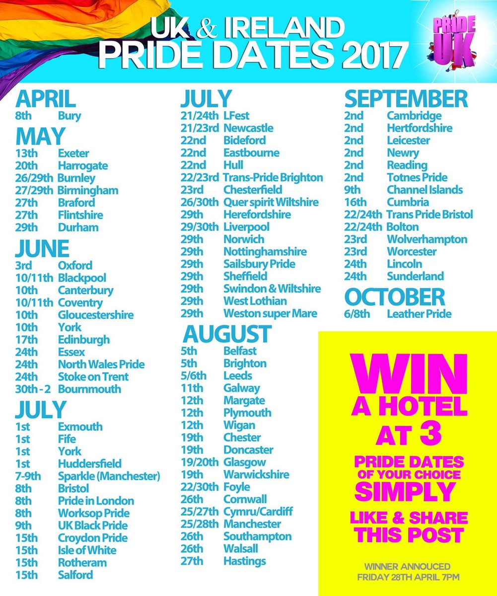 Gay Pride Dates Uk