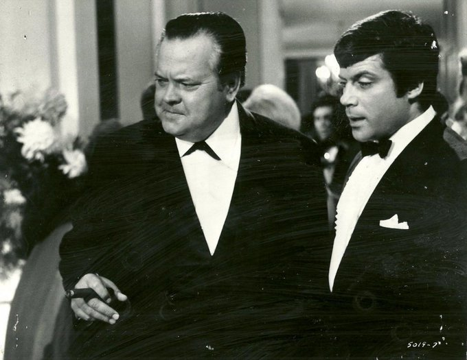 And happy birthday Oliver Reed!  Here with Orson Welles in I\ll Never Forget What\s\isname, 1967.
