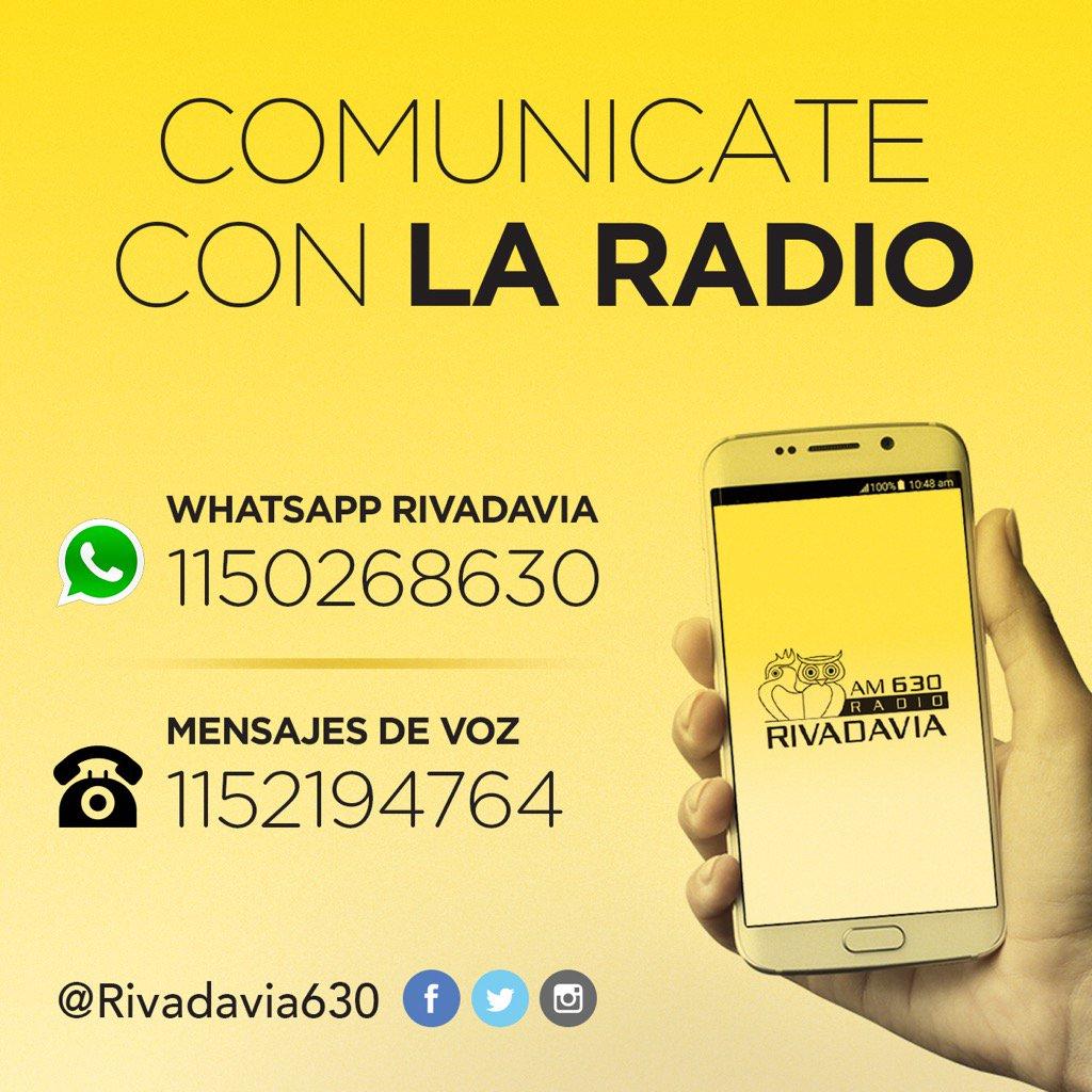 Radio Rivadavia Auf Twitter Whatsapp Redessociales