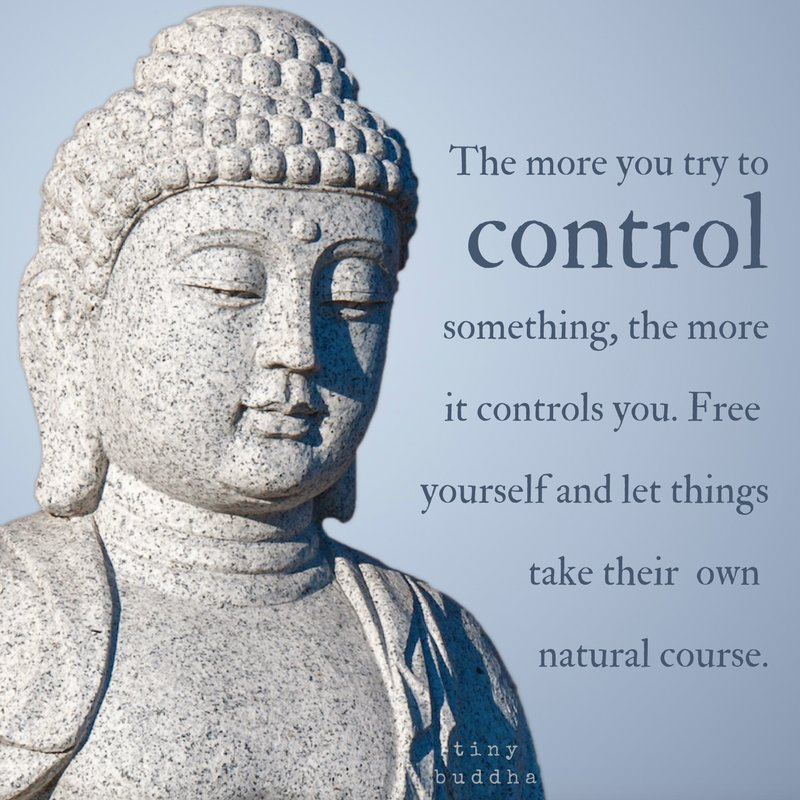 """Tiny Buddha On Twitter: """"The More You Try To Control"""
