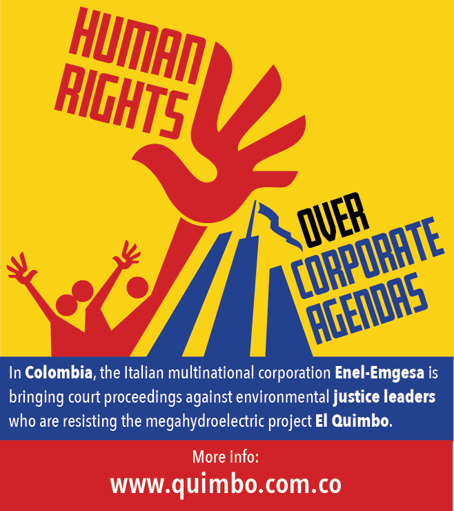 #Colombia: #ASOQUIMBO takes important step towards winning criminalisation of protest cases. https://t.co/9ZsSrO0be8 #Enel @FrontLineHRD https://t.co/nKFMhXQ1Um