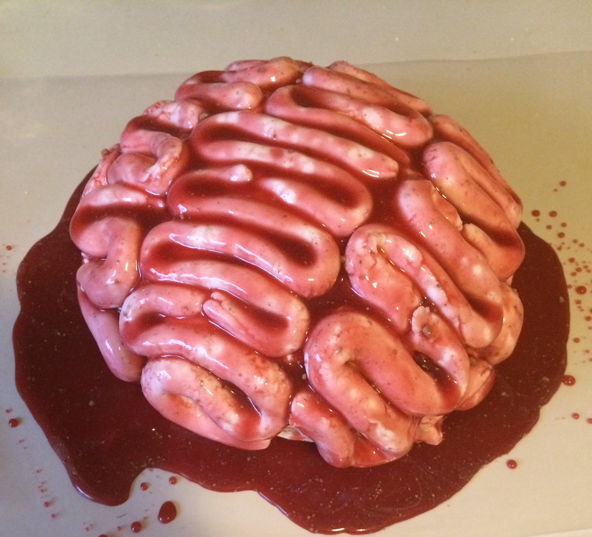 Lexi  F0 9f A5 80 On Twitter My Brain Cake In Celebration For The Thewalkingdead Coming Back On This Is From The Amazing Nerdynummies Cookbook