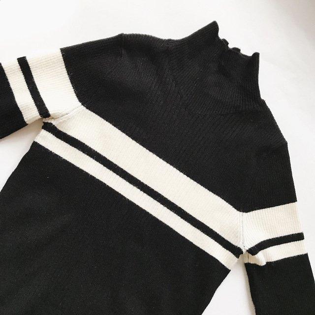 Купить чёрное платье с белым воротником