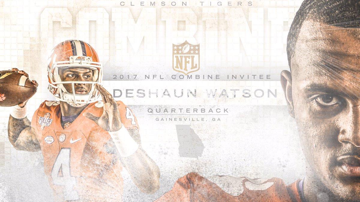 Put on a show @DeshaunWatson4. @NFLCombine #ClemsonFamily #ClemsonNFL...