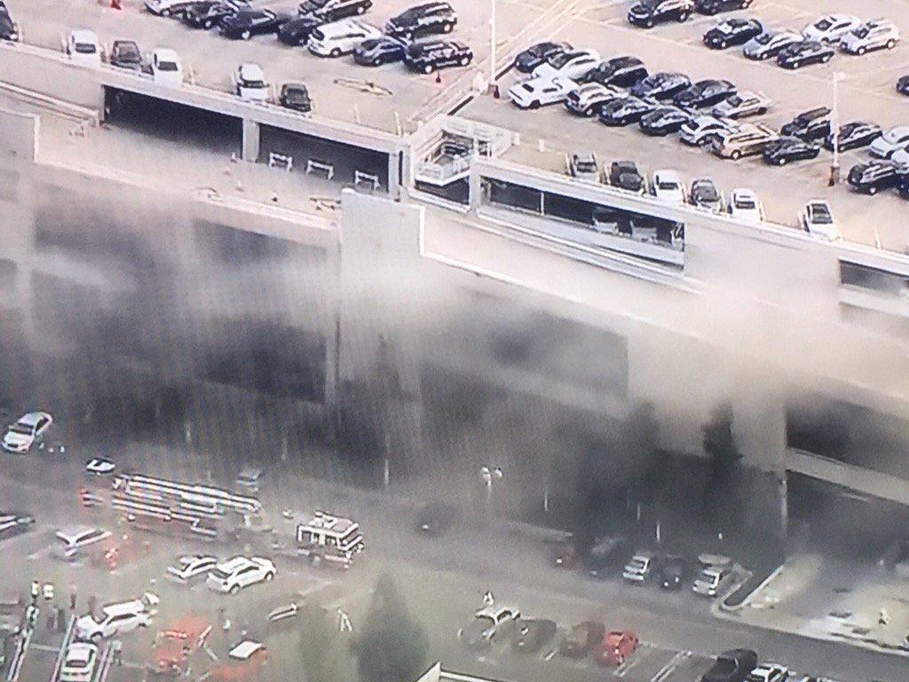 Disneyland parking garage fire upgraded to 2nd alarm for needed addtl manpower https://t.co/OwISzBHQv4
