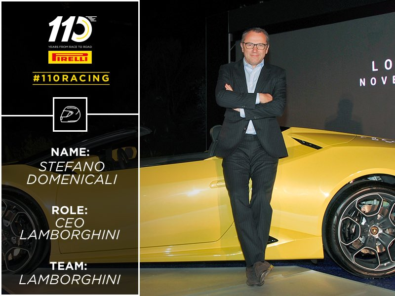 We\'re having Stefano Domenicali from #Lambo join us up on stage! #110Racing #RagingBull  #FBLive 11:30(CET)