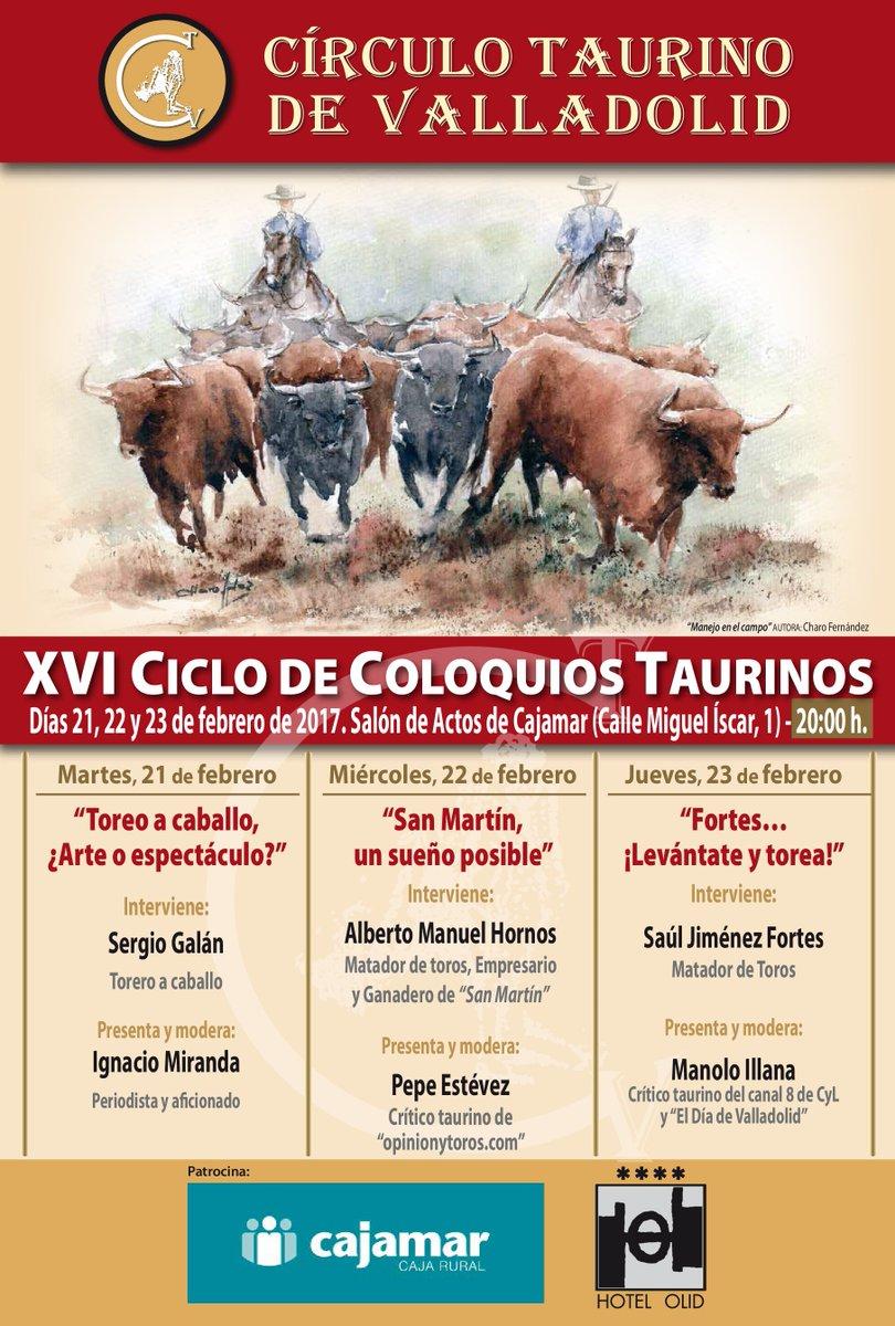 Resultado de imagen de XVI Ciclo de Coloquios Taurinos del Círculo Taurino de Valladolid