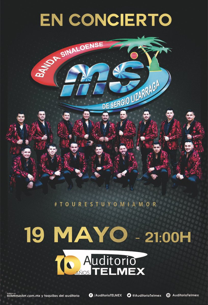 19/May @BANDA_MS @AuditorioTelmex #Gdl https://t.co/a3HtGwbOgc