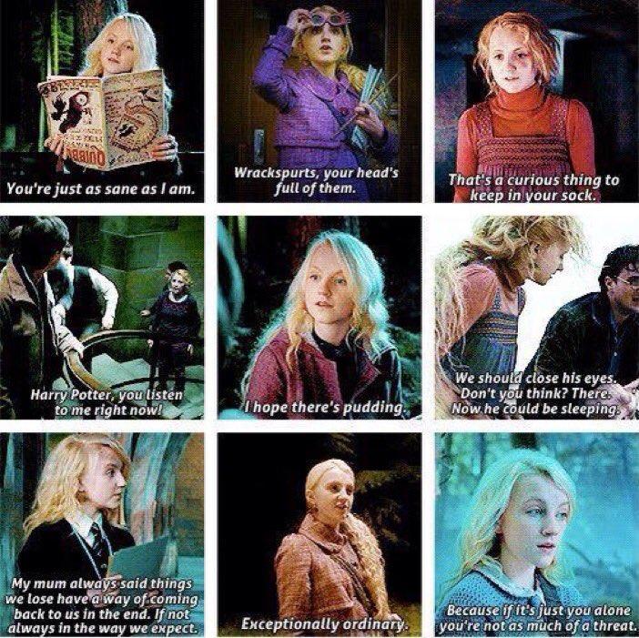 Harry Potter Universe On Twitter Luna Lovegood Quotes Happybirthdaylunalovegood