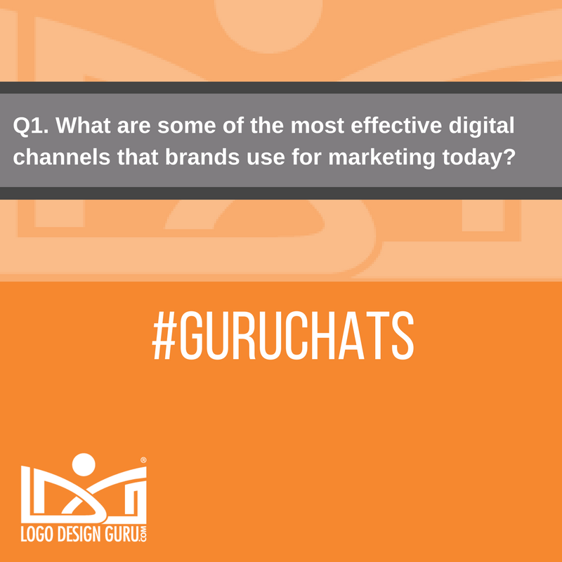Q1. Let's begin. What are some of the most effective digital channels that brands use for marketing today?  #GuruChats https://t.co/bhN3auoQbL