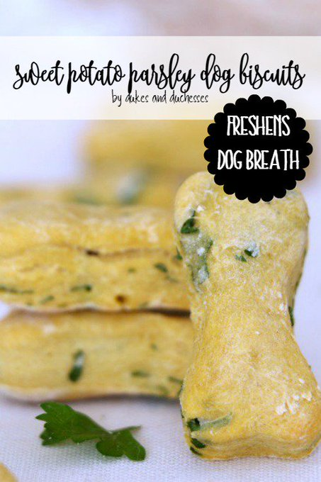 Sweet Potato Parsley Dog Biscuits
