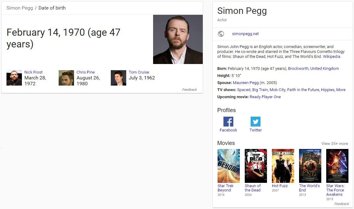 Happy Birthday Simon Pegg! Cheers! :D