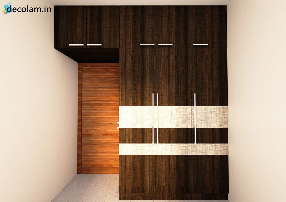 Decolam on twitter grab this textured wardrobe design idea under your budget ambitionmica for Decolam designs for bedroom